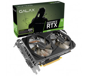 GALAX GeForce® RTX 2060 1-Click OC 6GB GDDR6 192-Bit, Display Port1.4, HDMI 2.0b, Dual-Link DVI-D,  Ekran Kartı