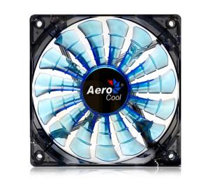 Aerocool Shark Serisi 14cm Mavi LED'li Sessiz Kasa Fanı