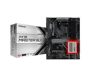 ASRock X470 Master SLI, 2x PCIeX16 (Gen3.0), 4x PCIeX1 (Gen2.0), 4x DDR4 3466+(OC), 4x PCIeX1 (Gen2), 1x Ultra M.2, 1x M.2, 6x SATA3, 2x USB3.1 Gen2 (Arka Panel Type-A+C), 10x USB3.1 Gen1(4x Ön Panel, 6x Arka Panel), Intel Gigabit LAN, AMD AM4 ATX Anakart