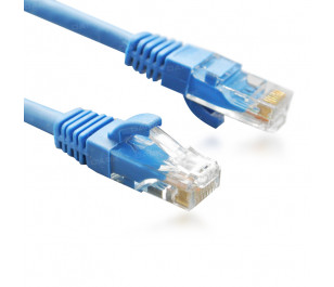 Dark 1m Cat6 CU AWG24/7 UTP Mavi Patch Network Kablosu