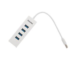 Dark Connect Master 4 Port USB 3.0 Hub Beyaz