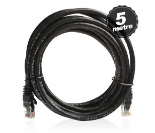 Dark 5m Cat6 CU AWG24/7 UTP Siyah Patch Network Kablosu