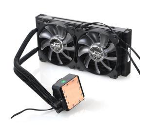 Dark AquaForce W240 Intel 775/1156/1155/1150/1151 AM2/AM2+/AM3/AM3+ Uyumlu Çift Fanlı 240mm Sıvı Soğutma Sistemi