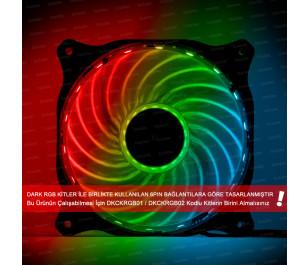 Dark 120mm RGB 15X Multi LED Kasa Fanı (RGB Kit Uyumlu - 6 pin Bağlantılı)