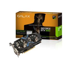 GALAX GeForce GTX 1050 EXOC 2GB 128-bit GDDR5 - HDMI 2.0B, DP1.4, Dual Link-DVI-D EKRAN KARTI