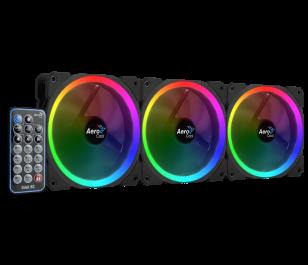 Aerocool Orbit RC 3 x 12cm RGB Led Fan + Uzaktan Kumanda