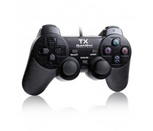 TX QuickShot Çift Analog,Titreşim,PC/ PS3 Gamepad