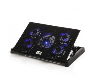"""TX Ergo500 5x FAN'lı, 6x Yükseklik Ayarlı,2x USB HUB'lı, 11""""-17"""" Notebook Soğutucu ve Stand"""