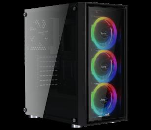 Aerocool Quartz REVO 1000W 80+ Bronze USB 3.0 4 x Adreslenebilir RGB Led Fanlı ve Güçlendirilmiş Camlı Siyah ATX Oyuncu Kasası