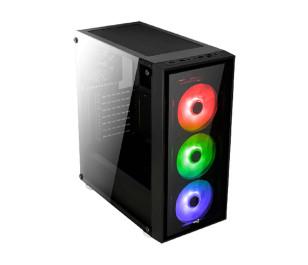 Aerocool Quartz 600W 80+ Bronze USB 3.0 RGB Led Fanlı ve Güçlendirilmiş Camlı Siyah ATX Oyuncu Kasası