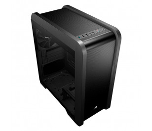 Aerocool QS240 Tempered Glass USB 3.0 Blue Led Fanlı Micro-ATX Kasa