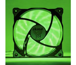 Akasa Vegas Yeşil 15Ledli 12cm Fan