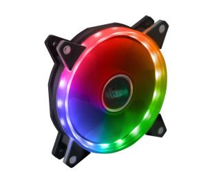 Akasa Vegas AR7 Anakart Kontrollü Adreslenebilir RGB LED' li 120mm Ring Kasa Fanı