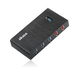 Akasa Elite 7EX 7 Port Yüksek Hızlı USB3.0 / 2.4A Hızlı Şarj Portlu USB HUB Çoklayıcı