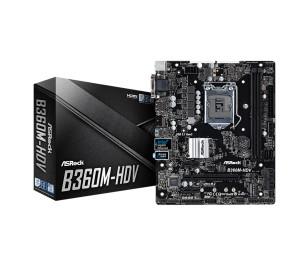 ASRock B360M-HDV, 1x PCIeX16 (Gen3.0), 2x PCIeX1(Gen3.0) , 2x DDR4, 4x USB3.1 Gen2 10GB/s (TypeC+TypeA), Intel 9. 8.Nesil İşlemci Destekli mATX Anakart
