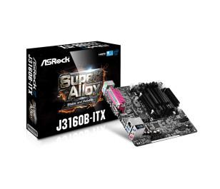 ASRock J3160B-ITX Intel j3160 Dahili İşlemcili 2x DDR3 SO-DIMM 1600Mhz, 2x SATA3, 1x Paralel Port, 1x Com Port 6W Düşük Güç Tüketimli 4 Çekirdekli Intel İşlemcili Mini-ITX Anakart (ASRJ3160B ITX)