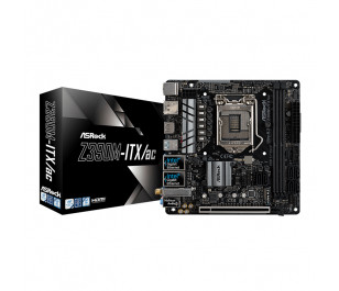 Asrock Z390M-ITX/ac, 2xDDR4 4000+(OC), 1xPCIe x16 (Gen3), 6xSATA3, 1x Ultra M.2, 6x USB3.1 Gen2, Dual Ethernet Mini-ITX Anakart (8. ve 9.Nesil LGA1151 Intel İşlemcileri Destekler)