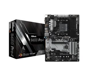 ASRock B450 Pro4, 2x PCIeX16 (Gen3.0), 4x PCIeX1 (Gen2.0), 4x DDR4 3200+(OC), 1x Ultra M.2, 1x M.2, 2x USB3.1 Gen2 (Type A+C), AM4 AMD ATX Anakart