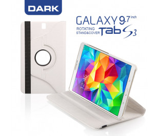 "Dark Samsung Tab S3 9.7"" Tab S3 360° Döner Beyaz Kılıf"