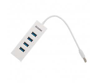 Dark Connect Master 4 Port USB 3.0 Hub Beyaz