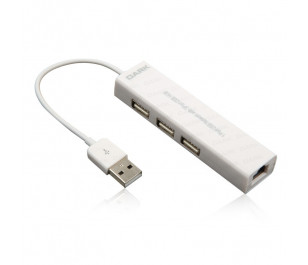 Dark Connect Master U23L Ethernet Girişli 3 Port USB 2.0 Hub