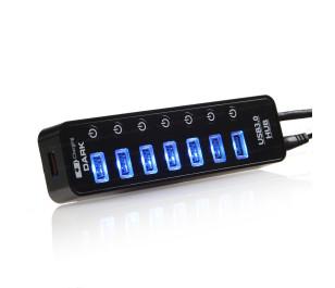 Dark Connect Master 7+1 Hızlı Şarj Adaptörlü USB3.0 Hub