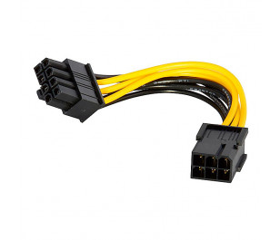 Dark 6Pin Dişi - 6+2 Pin PCI-E Dönüştürücü Güç Kablosu