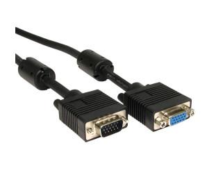 Dark 3m Ferrit Core EMI/RFI Filtreli VGA Uzatma Kablosu