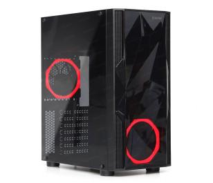 Dark Diamond 2x12cm Fan, 1x USB3.0, 2x USB2.0 Full Akrilik ATX Oyuncu Kasası