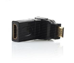 Dark Mini HDMI 270° Derece Dönüştürücü Dirsek (mini HDMI Erkek - HDMI Dişi)
