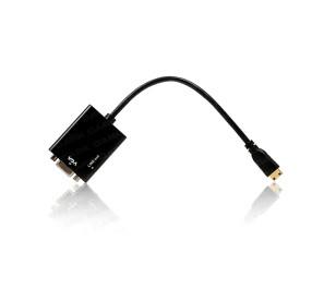Dark mini HDMI - VGA ve SES Aktif Dijital- Analog Dönüştürücü