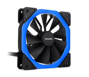 Dark 120mm Solid RING Mavi LED Fan