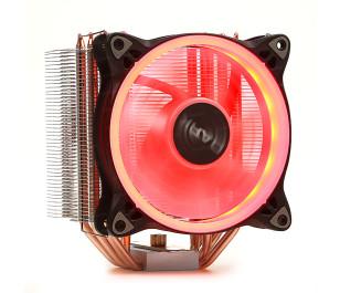 Dark Freezer X124 Intel LGA115X/2066 - AMD FM2/AM3/AM4 Uyumlu, 5x6mm Direct Contact Isı Borulu, 120mm Kırmızı Halka LED'li İşlemci Soğutucu