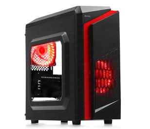DARK F40 500W 2x Kırmızı LED Fan USB3.0 Pencereli M-ATX Kasa