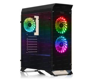 Dark R20 600W 80+ 3x12cm RGB Fan, USB 3.0, Yan ve Ön Cam Panel,Uzaktan Kumandalı, Mid-Tower Oyuncu Kasası - DKCHR20P680