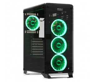 DARK R30 USB 3.0, 4x12cm Türbin RGB Fan, Fan Kontrolcülü, Pencereli ATX  Kasa