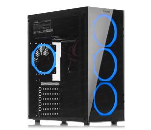DARK Spirit 600W 80+ Bronze USB 3.0, 4 x12cm Fanlı, Solid Mavi LED'li , Full Temperli Cam ATX Oyuncu Kasa