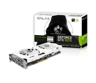 Galax GeForce GTX1070 EXOC Sniper White 8GB 256-Bit GDDR5 DVI-D, HDMI 2.0b, DP1.4 PCI-E Ekran Kartı