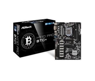 Asrock H110 Pro BTC+ , 13 Ekran Kartı (Nvidia+AMD) Desteği Sunan Ultimate Bitcoin, Ethereum, Zcash Mining Anakart, LGA 1151