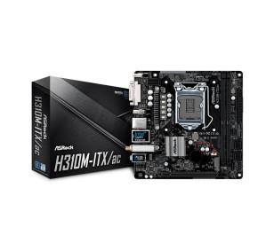 ASRock H310M-ITX/AC, 1x PCIeX16 (Gen3), 2x DDR4 Ram Slotu 2666MHz, Wireless 802.11ac, Intel H310 Çipset, Soket LGA1151, Intel 8.Nesil İşlemci Desteği, Mini-ITX Anakart