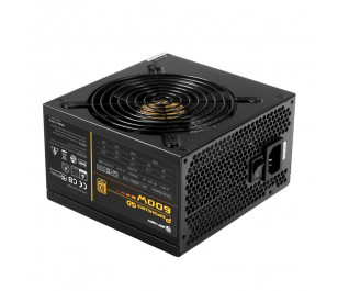 High Power Performance GD 600W 80+ Gold 50A Single Rail Aktif PFC Siyah ATX Güç Kaynağı