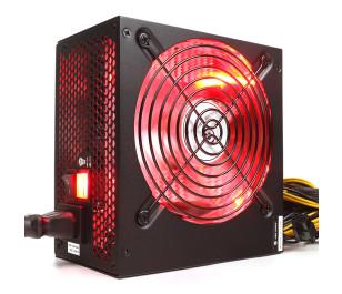High Power 600W 80+ Kırmızı Led Fanlı Güç Kaynağı