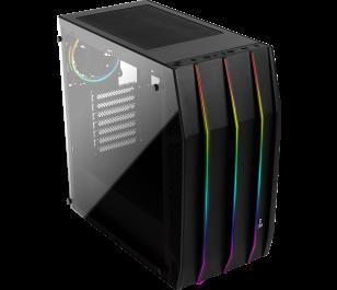Aeocool Klaw RGB 600W 80+ Tempered Glass 3x12cm Fan ATX Oyuncu Kasası