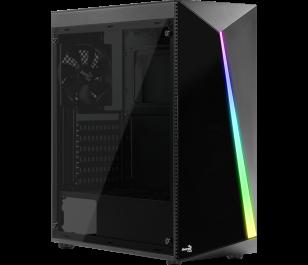 Aerocool Shard RGB Full Acrylic 500W Midi Tower Siyah Kasa