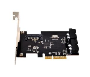 Silverstone ECU01 4xUSB 3.0 2x19Pin PCI Express 2.0 Genişleme Kartı
