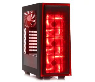 Silverstone Redline RL06 Kırmızı Led Midi Tower Kasa