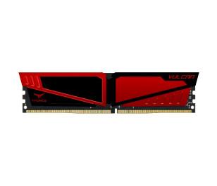 Team T-Force Vulcan 1x 8GB 3000MHz DDR4 CL16, 1.35V Gaming Kırmızı Soğutuculu Bellek