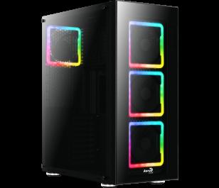 Aerocool TOR Pro 600W 80+ Bronze USB 3.0 4 x Adreslenebilir RGB Fanlı Full Tower Siyah Kasa