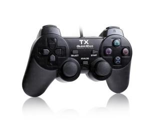 TX QuickShot Çift Analog,Titreşim,PC/ PS3 Gamepad