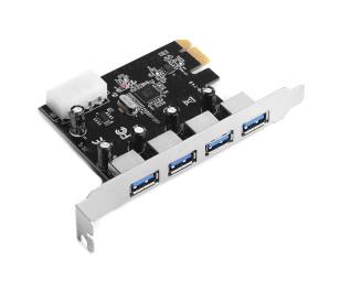 TX 4 x USB 3.0 Portlu PCI Express x1 Kart